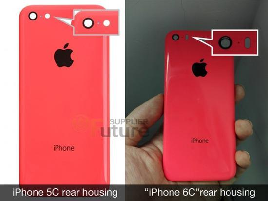 iPhone 6c背部与5c背部对比