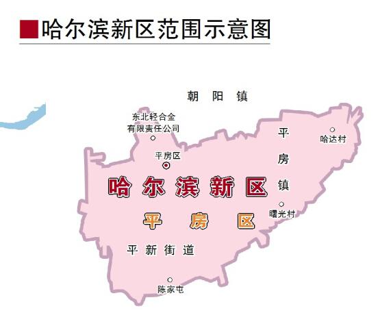 哈尔滨新区绘入地图