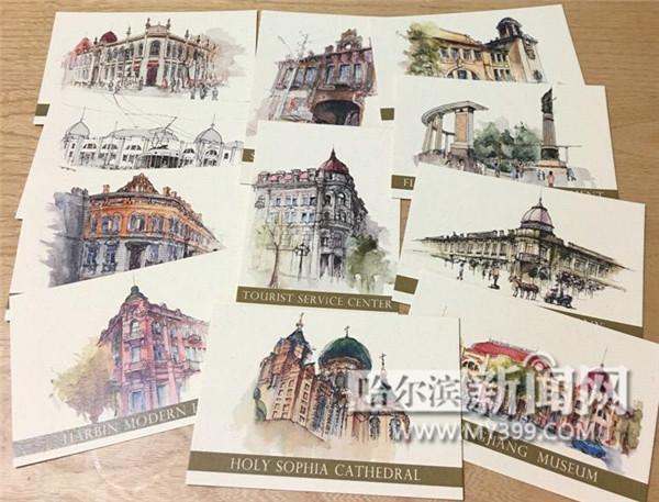 """8月28日推出的""""哈尔滨马拉松""""纪念明信片,现场即可将运动员的照片打印"""