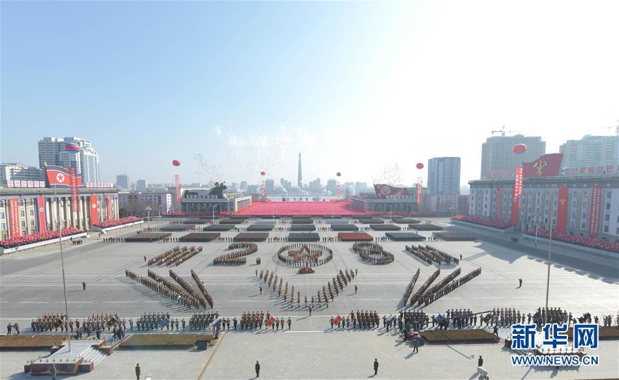 (国际)(2)朝鲜举行阅兵式庆祝建军70周年