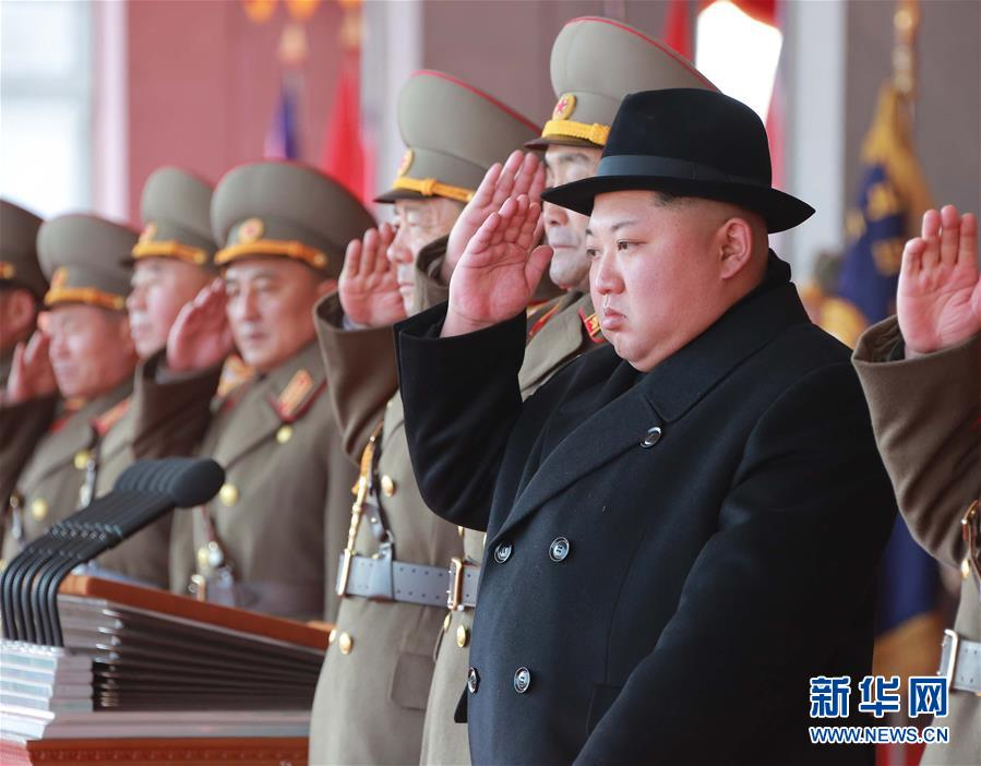 (国际)(1)朝鲜举行阅兵式庆祝建军70周年