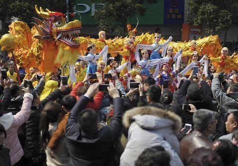 #(社会)(1)舞龙舞狮庆新春