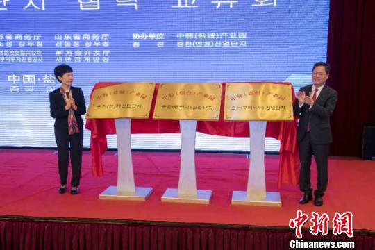 中韩产业园合作加速推进中方三个中韩产业园同时揭牌