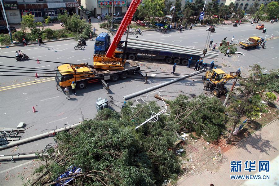 (社会)(3)辽宁开原龙卷风致9900余人受灾 救援正紧张进行
