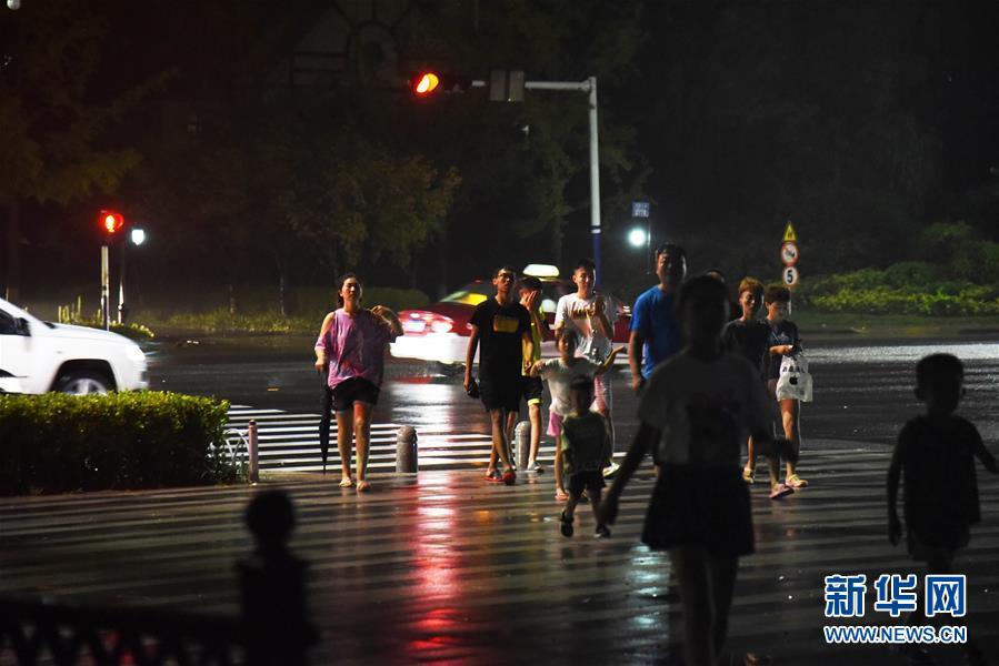 """(关注""""利奇马""""·图文互动)(2)台风""""利奇马""""在山东青岛再次登陆 山东26座水库超汛限水位"""