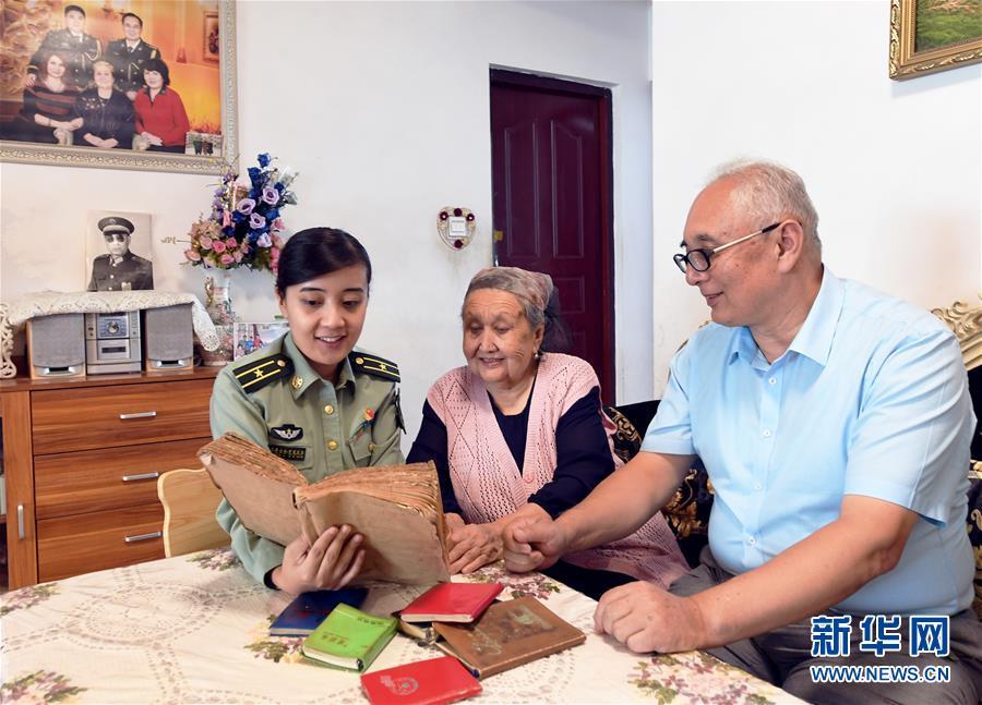 (图文互动)(3)历史的见证——陆军边海防学院维吾尔族女讲师其曼古力一家三代守疆固边记事