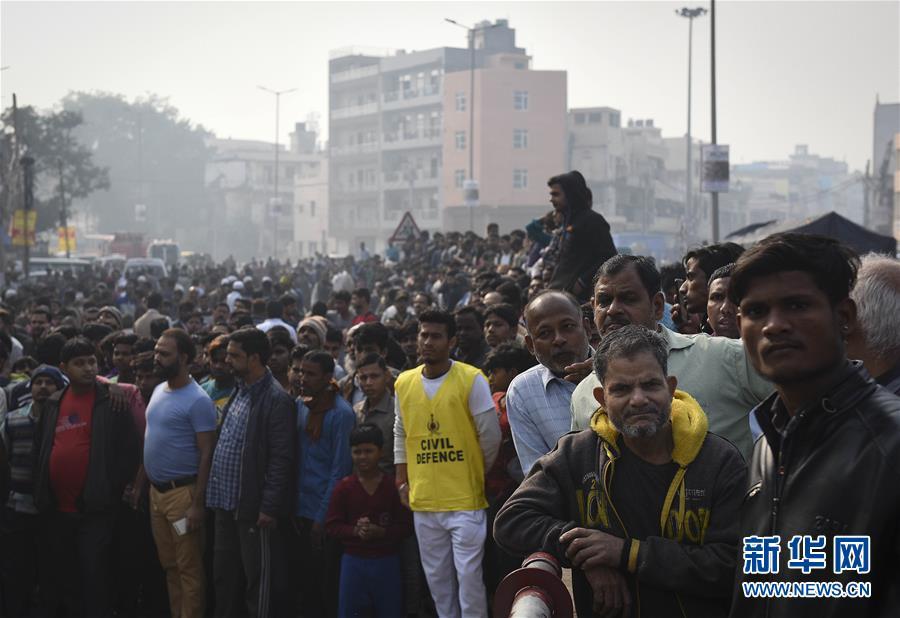 (国际)(6)印度一商业楼发生火灾致32人死亡