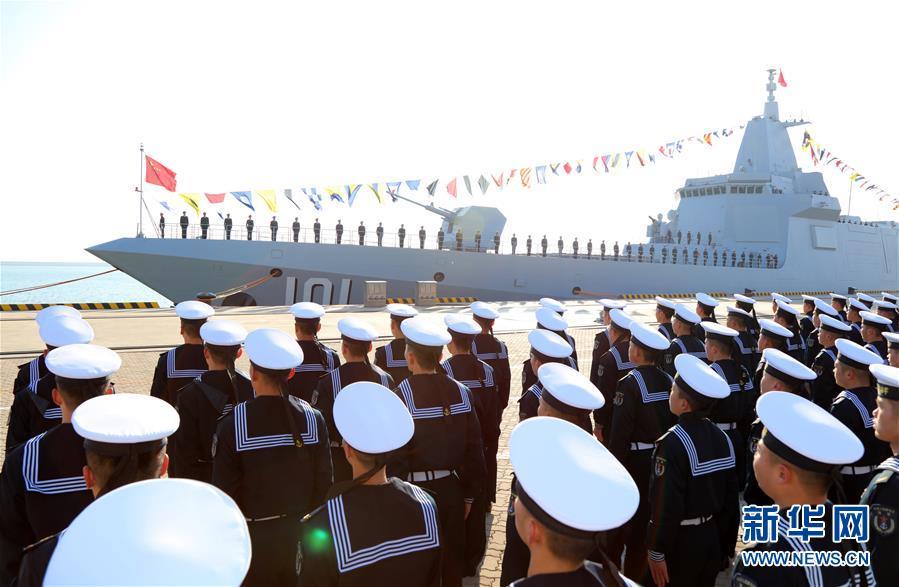 (图文互动)(1)海军055型驱逐舰南昌舰入列