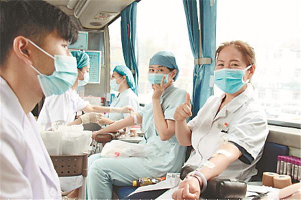 哈尔滨市红十字中心医院118人无偿献血34200毫升